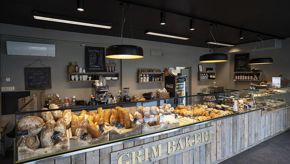Belysning på Grim Bakeri i Kristiansand