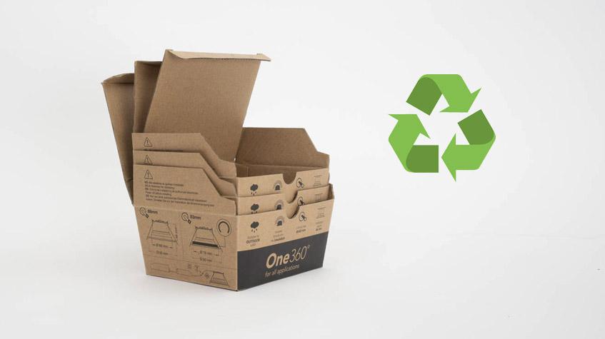 Miljøvennlig emballasje til downlights