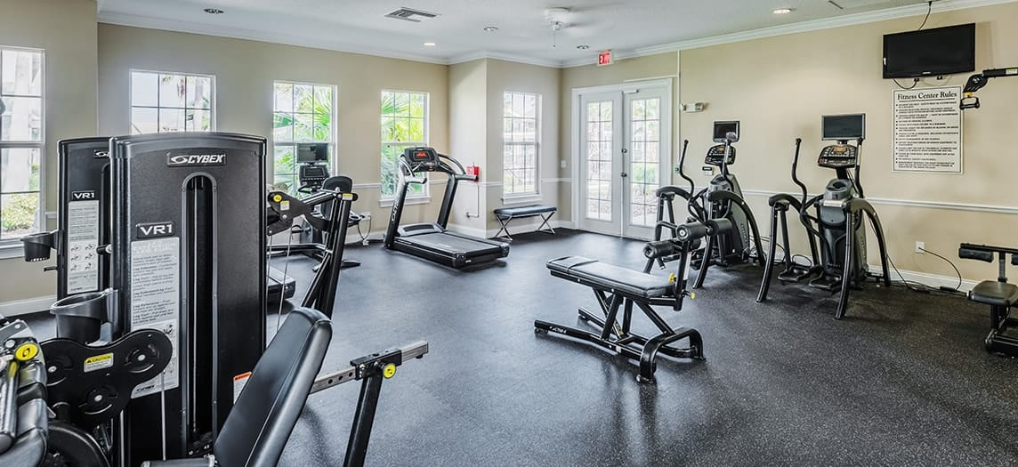 Fitness Center at Colonial Grand at Heather Glen luxury apartment homes in Orlando, FL