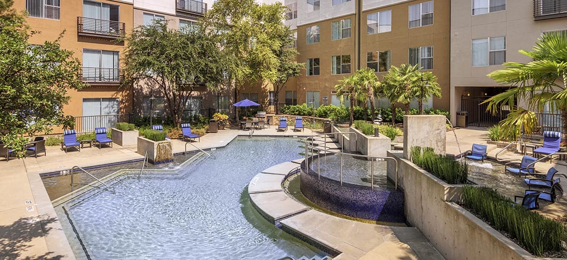 Pool At Colonial Reserve Las Colinas Luxury Apartment Homes In Irving TX Near Dallas
