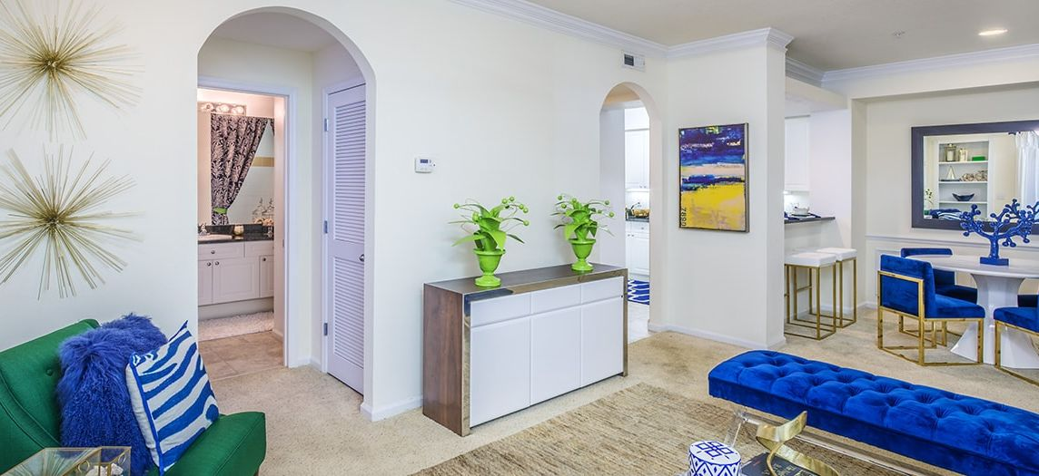 ... Living And Dining Room At Post Bay Apartments At Rocky Point Luxury  Apartment Homes In Tampa ...