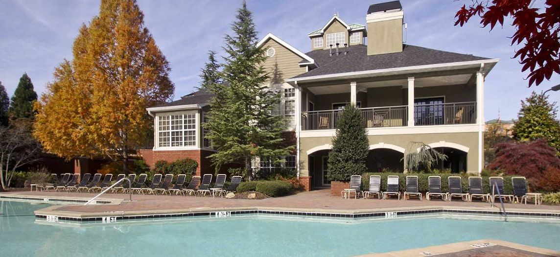 Pool at Post Park at Phillips luxury apartment homes in Charlotte, NC ...
