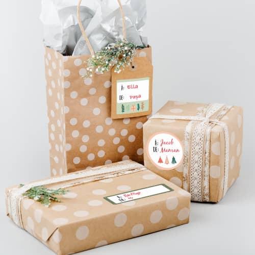 Étiquettes-cadeaux des fêtes