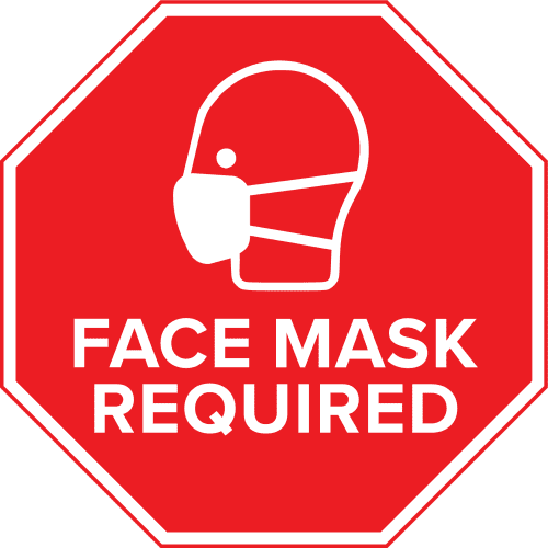 Face Mask Required Wall Decal