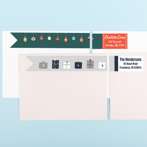 Holiday Wraparound Address Labels