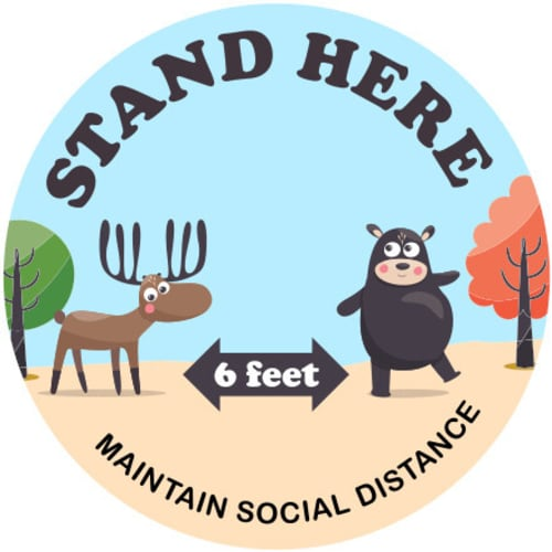 Stand Here Animal Floor Decals