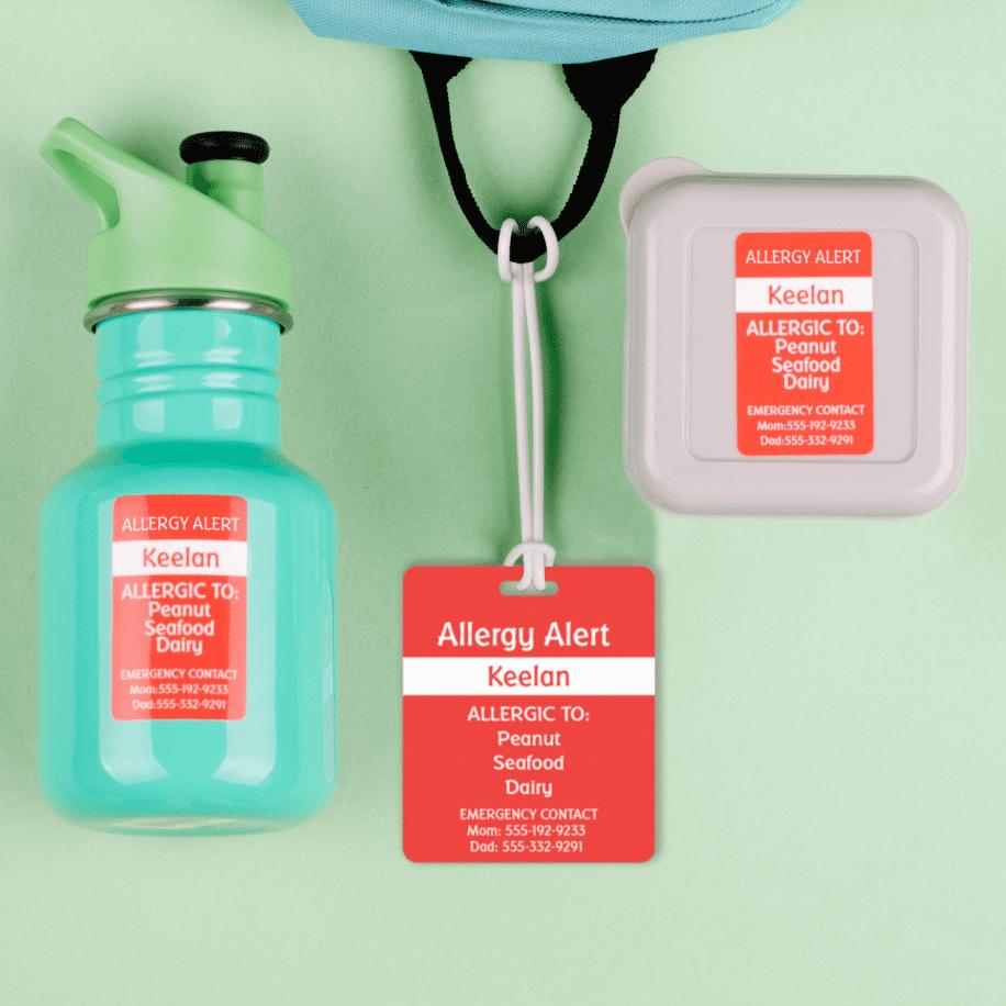 Ensemble d'étiquettes pour alertes médicales