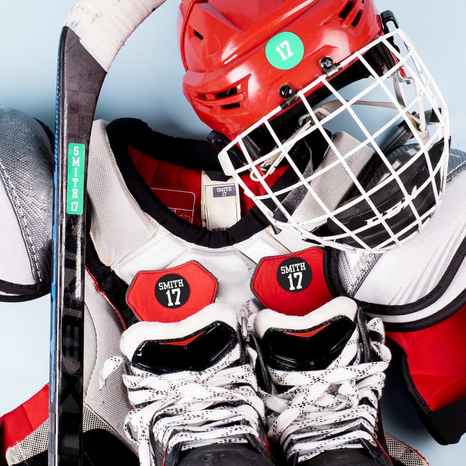 Ensemble d'étiquettes pour le hockey