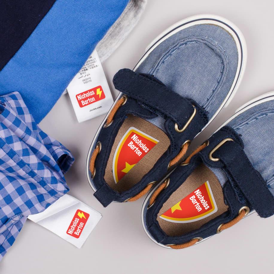 Ensemble d'étiquettes pour vêtements du préscolaire