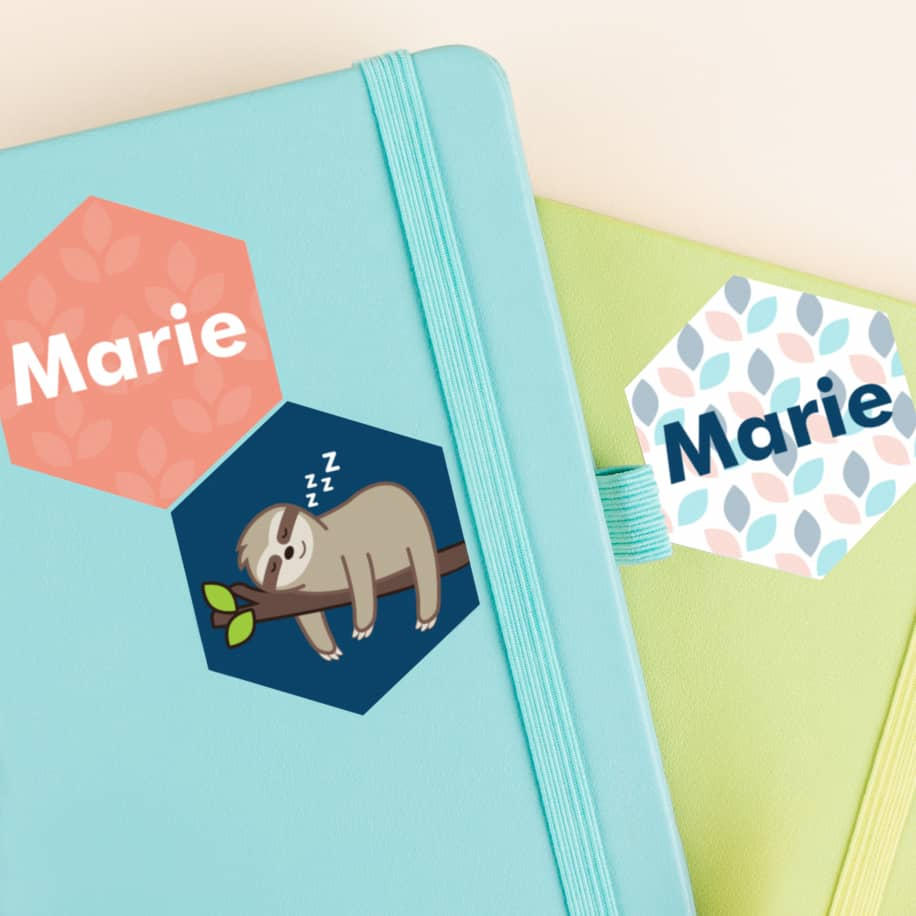 Personalized Hexagon Stickers