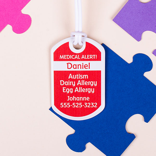 30% Off Custom Medical Tags - Mabel's Labels Autism Awareness Sale