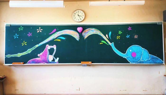 簡単 黒板 アート