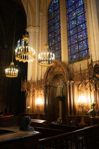 シャルトルのノートルダム大聖堂内部