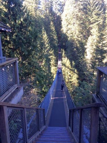 バンクーバーのキャピラノ橋