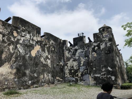 マカオ半島の風景 モンテの砦
