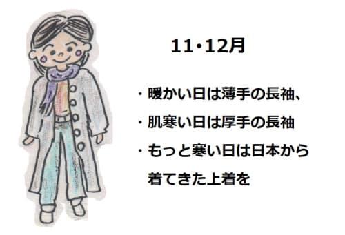台湾台北の11月12月の服装