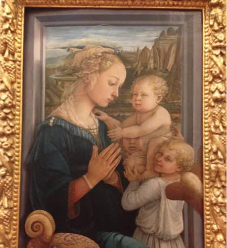 フィレンツェ ウフィツィ美術館 フィリッポ・リッピの『聖母子と二天使』
