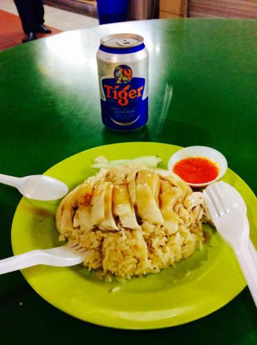 シンガポール チャイナタウン Maxwell Food Center 天天海南鶏飯 海南鶏飯(ハイナンチキンライス)