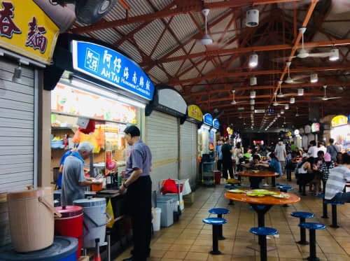 シンガポール チャイナタウン Maxwell Food Center 阿仔海南鶏飯