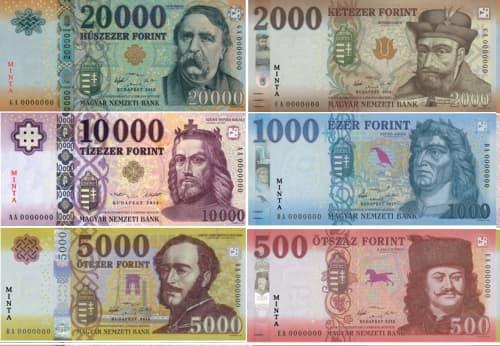 ハンガリーの紙幣