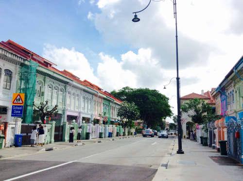 シンガポール カトン地区のプラナカン建築