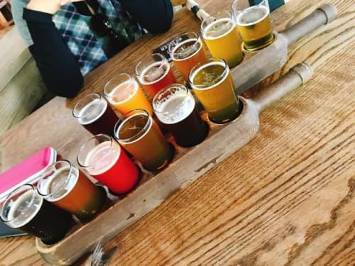 バンクーバーのグランビルアイランドのビール飲み比べ