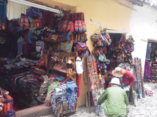 ペルー 民芸品屋