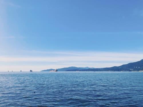 バンクーバーの海