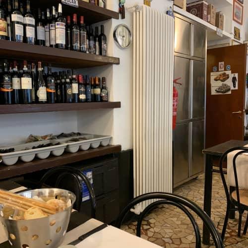 ミラノのレストランの厨房