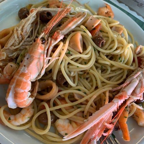 リグーリア風魚介のスパゲッティー ミラノ
