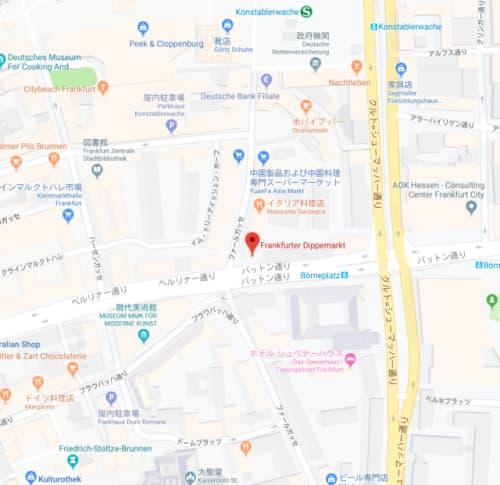 フランクフルター・ディッペマルクトの地図