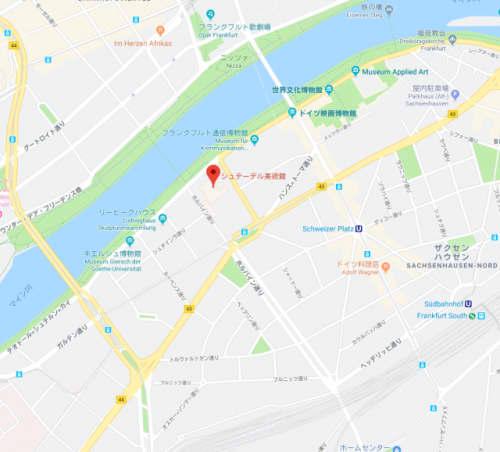 シュテーデル美術館の地図