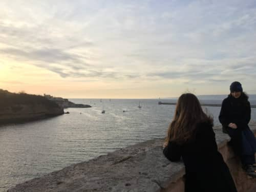 マルセイユ MuCEM屋上からの夕日