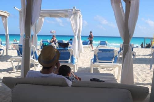 パナマジャックリゾート・カンクンのプライベートビーチ