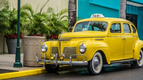 タヒチのタクシー