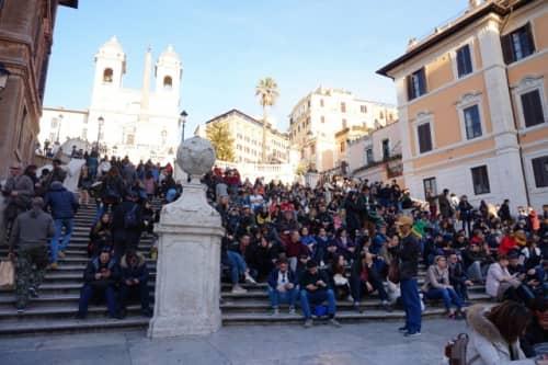 ローマの休日でも有名なスペイン広場