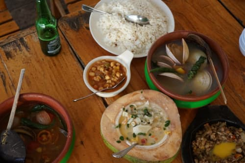 セブ島のレストラン・ランタウのココナツスープ
