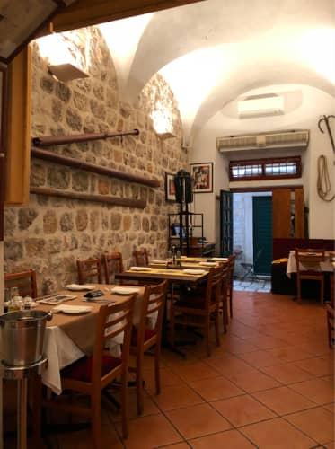 クロアチア・ドゥブロヴニク レストラン Dondu Maroje