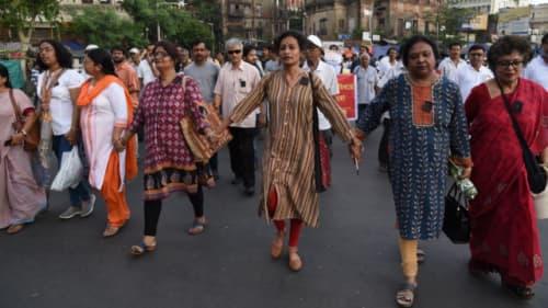 インドのデモ活動