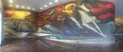 メキシコシティ チャプルテペック城 壁画