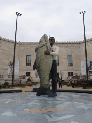 シカゴ シェッド水族館の像