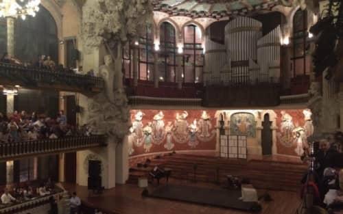 スペインのカタルーニャ音楽堂
