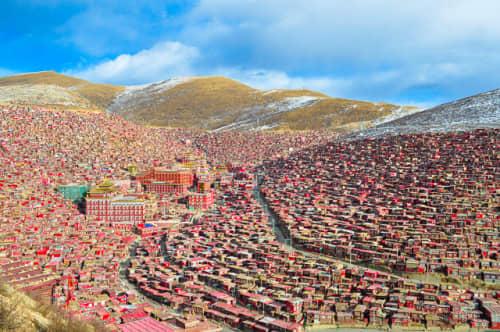 世界の絶景 ラルンガルゴンパ(中国)