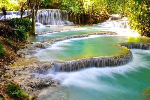 世界の絶景 クアンシーの滝(ラオス)