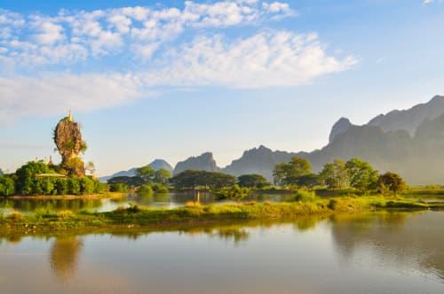 世界の絶景 チャウカラッ・パゴダ(ミャンマー)