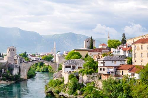 世界の絶景 モスタルのスタリ・モスト(ボスニア・ヘルツェゴビナ)