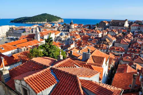 世界の絶景 別名アドリア海の真珠と名高いドゥブロヴニク(クロアチア)