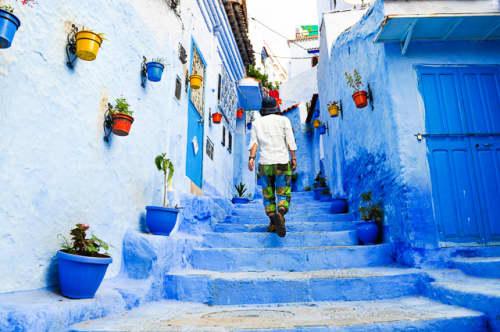 世界の絶景 シャウエン(モロッコ)の青い街