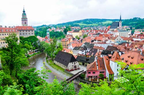 世界の絶景 「世界で一番美しい街」チェスキー・クルムロフ(チェコ)