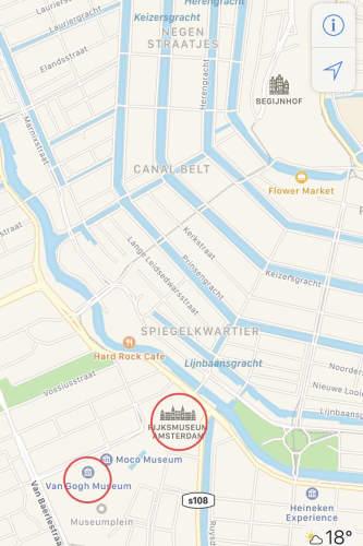 オランダ アムステルダム ゴッホミュージアム周辺地図